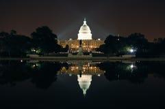 Colina de capital en la noche fotografía de archivo libre de regalías
