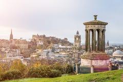 Colina de Carlton en Edimburgo fotografía de archivo libre de regalías