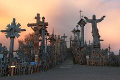 Colina de cruces Fotos de archivo libres de regalías