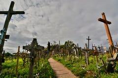 Colina de cruces Siauliai lituania Fotografía de archivo