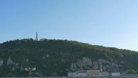 Colina de Gellert en Budapest almacen de video