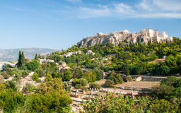 Colina de la acrópolis de Atenas fotos de archivo
