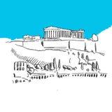 Colina de la acrópolis, Grecia Libre Illustration