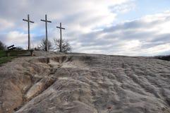 Colina de la ciudad Kazimerz Dolny Polonia de las cruces fotografía de archivo libre de regalías
