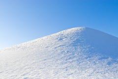 Colina de la nieve imágenes de archivo libres de regalías