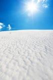 Colina de la nieve Imagen de archivo libre de regalías