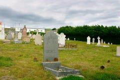 Colina de la serpiente del cementerio, Stanley portuario, Malvinas Foto de archivo