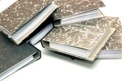 Colina de las carpetas de papel imagenes de archivo
