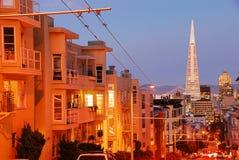 Colina de Nob en San Francisco Fotografía de archivo