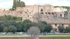 Colina de Palatine, Roma, Italia metrajes