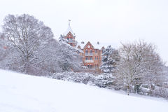 Colina de Richmond cubierta en nieve Fotos de archivo