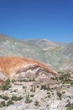 Colina de siete colores en Jujuy, la Argentina. Fotografía de archivo