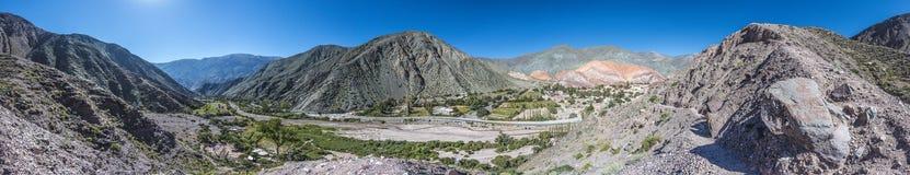 Colina de siete colores en Jujuy, la Argentina. imágenes de archivo libres de regalías