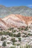 Colina de siete colores en Jujuy, la Argentina Foto de archivo