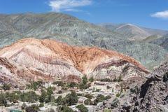 Colina de siete colores en Jujuy, la Argentina Fotografía de archivo libre de regalías