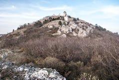 Colina de Svaty Kopecek de la colina del hora de Olivetska sobre Mikulov en Moravia del sur Imagenes de archivo