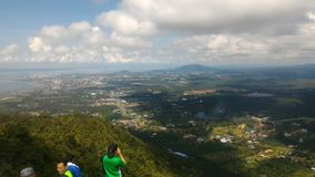 Colina de Tinagat en Tawau, Sabah, Malasia fotografía de archivo
