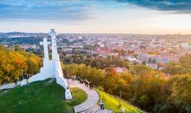 Colina de tres cruces en Vilna Imagen de archivo libre de regalías