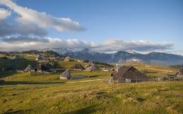 Colina de Velika Planina, Eslovenia Fotos de archivo libres de regalías