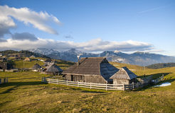 Colina de Velika Planina, Eslovenia Imagenes de archivo