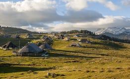 Colina de Velika Planina, Eslovenia Imágenes de archivo libres de regalías