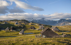 Colina de Velika Planina, Eslovenia Foto de archivo