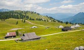 Colina de Velika Planina, Eslovenia Fotografía de archivo