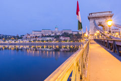 Colina del castillo de Budapest Foto de archivo libre de regalías