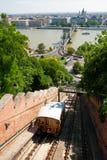 Colina del castillo de Budapest funicular Fotos de archivo