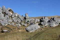 Colina del castillo en el paso del ` s de Arturo, isla del sur Imagen de archivo libre de regalías