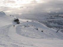 Colina del esquí en Noruega. foto de archivo libre de regalías