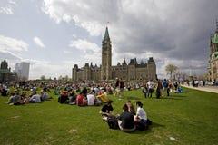 Colina del parlamento 420 - activistas de la marijuana Foto de archivo libre de regalías