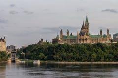 Colina del parlamento en Ottawa Canadá fotografía de archivo
