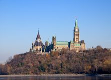 Colina del parlamento, Ottawa Foto de archivo libre de regalías