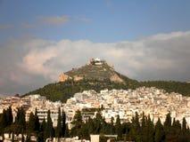 Colina en Atenas Fotos de archivo