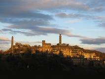 Colina en la oscuridad, Edimburgo de Calton Foto de archivo libre de regalías