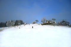 Colina en Zakopane, Polonia del esquí Fotos de archivo libres de regalías
