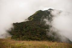 Colina enorme en neblina Imágenes de archivo libres de regalías