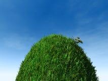 Colina herbosa del topetón stock de ilustración