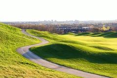 Colina hermosa del golf Fotografía de archivo