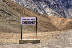 Colina magnética, leh, Ladakh, Jammu y Cachemira, la India imagen de archivo