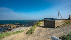Colina natural con la opinión del mar fotos de archivo libres de regalías