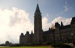 Colina Ottawa Ontario Canadá del parlamento fotografía de archivo