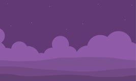 Colina púrpura para el ejemplo del juego ilustración del vector