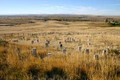 Colina pasada del soporte de Custer Imagenes de archivo