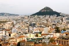 Colina y Atenas de Lycabettus Fotos de archivo
