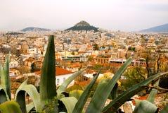 Colina y Atenas de Lycabettus Fotografía de archivo