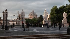 Colina y Piazza del Campidoglio, Roma de Capitoline metrajes