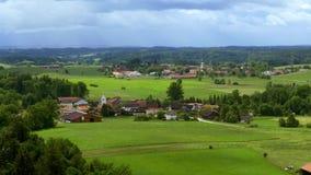 Colinas alpinas, paisaje, Baviera superior, Alemania, Europa almacen de metraje de vídeo