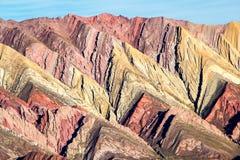 Colinas coloreadas visión Ornakal Foto de archivo libre de regalías